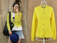 Autumn New arrival fashion women yellow sweater 8042