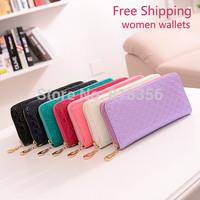 Free Shipping Fashion Women Wallets Zipper Wallet Chance Long Design Female's Retro Purse Clutch Bag Card Package Money Clip