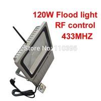 waterproof outdoor landscape lighting 110v 220v rf remote control rgb led spotlight christmas decorations 120w led floodlight