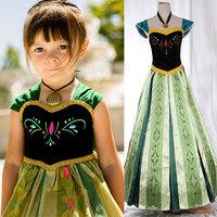 Free Shipping Newest Kids girl Princess dress,Frozen anna dress,Kids gift dress,girls evening dress top quality