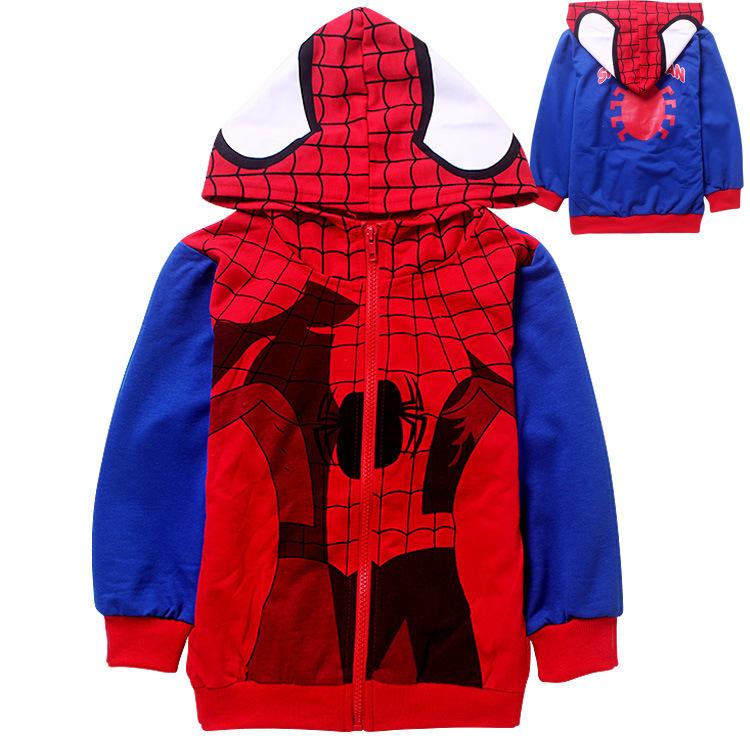 Mode Jassen Lente 2015 : Kopen wholesale spiderman jas uit china