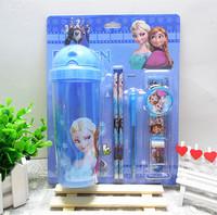 Frozen water bottle prizes stationery set primary school students school supplies Christmas gift box child's birthday present