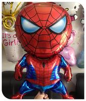 New arrival 5pcs/lot spiderman helium balloons for party decoration Aluminum ballon cartoon globos