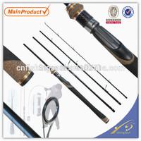 Travel  fishing rod, 4 section, 198cm,  TVR006,  rod tube pack, SRF  fishing pole