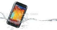 LOVE MEI Waterproof Aluminum Metal Cover Case Dustproof Shockproof with Gorilla Glass for Samsung Galaxy Note 3 III Note3 N9000