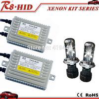 Superior Quality Canbus H4 Dual Beam Bi-xenon HID Xenon Kit AC 12V 55W X5 Ballast H4 Hi/Lo Xenon Lamps Bulbs Error Free