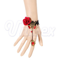 Rose Enticing Sexy Lace Floral Chain Bangle Bracelet Lady Jewellery, Sexy Lingerie Costumes Accessories