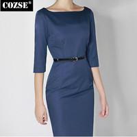 New 2014 Fashion Slim Style Vintage Elegant Backless Vent Women Dress European Style Slim Women Clothing Free Shipping n5035