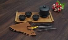 Yixing purple Kung Fu trave ceramic tea set teapot pot pots cup 8 sets of simple