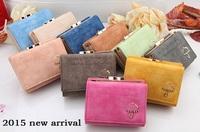 Free shipping 2014 New  Fashion women's Leather Wallet Button Clutch Purse Lady Short Handbags Bag carteira feminina wholesale