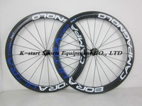 Only $499 55mm clincher carbon wheels carbon road bike wheelset bicycle wheels 5 colors Red Blue Dark Green  effect