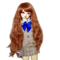 "[wamami] 97# Long Wig/ Curling Wig/Brown Wig For 1/3 SD AOD DOD BJD Dollfie 8-9"""