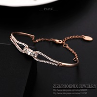 ZSB006 Luxurious AAA Zirconia Bangles Bracelets women Pulseiras Valentine's Day High quality Designer