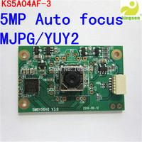 Free shipping USB2.0 CMOS 5Mega Pixel Auto Focus  Camera module