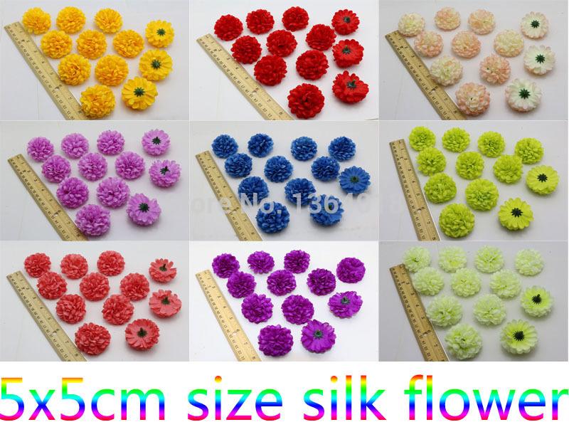 Wholesale Free shipping deep purple 50pcs/Lot Ball Daisy artificial Silk Flowers heads Wedding Party home DIY Decor(China (Mainland))