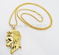 Hot sale Fashion Medusa Hip Hop Gold Plated Men Jewelry Pendant Statement Necklace Chain Necklaces & Pendants for Women