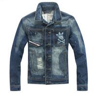 Free shipping 2014 brand new men's winter coat jacket denim jacket men's winter coat jacket male coat  2001
