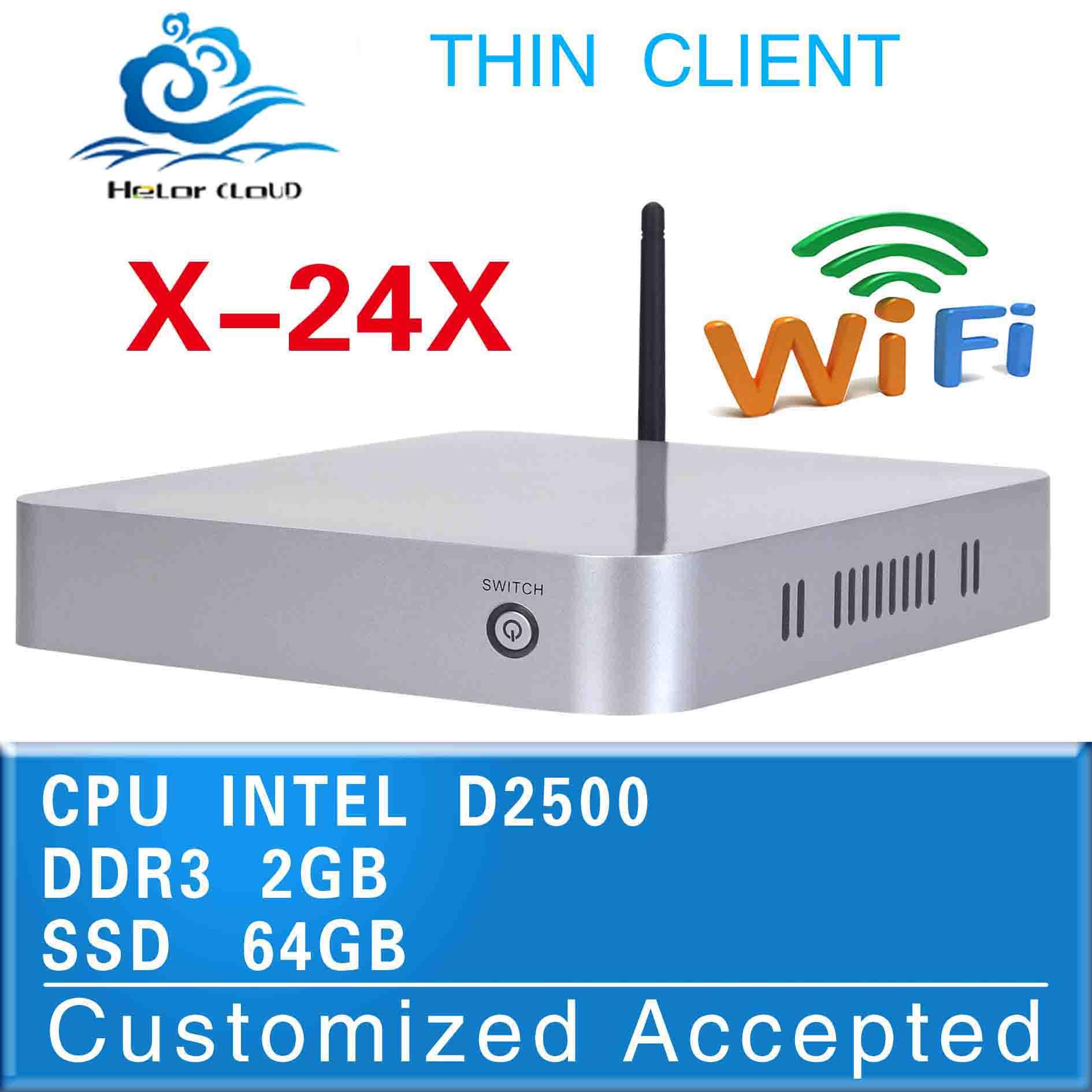 Promotional price !!! thin client mini industrial computer X-24x Intel Atom D2500 2g ram 64g ssd can run Linux/Ubuntu/window 7(China (Mainland))