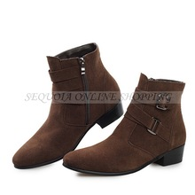 High Quality Suede Pointed Top Men Fashion Warm Inside Winter Ankle Boots MY5470(China (Mainland))