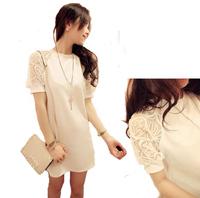 2014 ladies wind lace raglan sleeve lace dress big yards