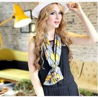 New 2014 Scarf Women Fashion Brand Designer Silk Scarf Women geometric print cotton scarf double silk scarves wholesale
