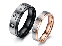2014 New  stainless steel Valentine's Gifts 2014 Fashion Jewelry Womens Accessories Heart Wedding Ring, Love Rings Free Shipping