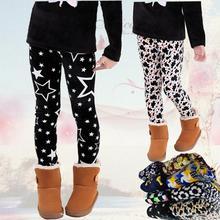 Silver Fox Kids girls winter plus thick velvet velvet leggings children big boy pants(China (Mainland))