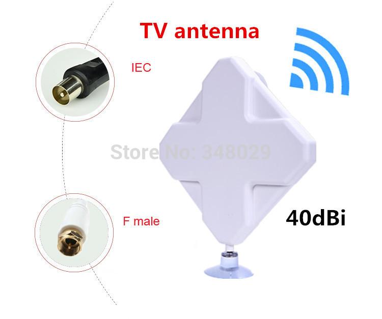 High gain 40dBi TV antenna for DVB-T TV HDTV Freeview HDTV, antenas vhf uhf Digital tv antenna amplifier indoor free shipping(China (Mainland))