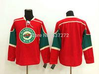 Stitched Free Shipping men's Hockey Jersey Minnesota Wild Jersey blank Hockey Jersey Embroidery Logos Jersey