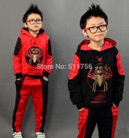 Spiderman boys Clothing set children spider-man sports suit hoodie jacket + pants kids Sweatshirt trousers Autumn clothes