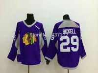 Stitched Free Shipping men's Hockey Jersey Chicago Blackhawks 29 Bryan Bickell Hockey Jersey Embroidery Logos Jersey