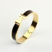 Fashion Metal H Bracelet for Women Bracelet h Bangles 14 Color Wholesale Jewelry