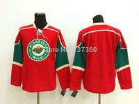 Cheap Free Shipping men's Hockey Jersey Minnesota Wild Jersey blank Hockey Jersey Embroidery Logos Jersey
