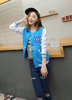 Free shipping !!   New Spring Baseball Uniform Lovers Jacket Class Sweatshirts Monsters,Inc. Girls Outerwear Monster University