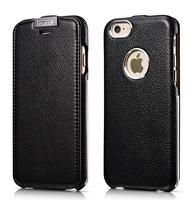 Original iCarer Brand Luxury Metal Warrior Litchi Pattern Genuine Leather Case For iPhone 6,5 Colors For iPhone 6 Leather Case