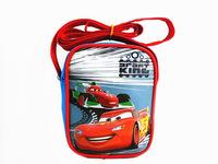 Cartoon children inclined shoulder bag Oxford cloth car square his snack packs Zipper small bag boys bag Red, blue, silver