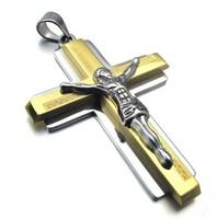 Wholesale + retail  316L Stainless Steel men's cross Pendant Necklace 10021804(074198)