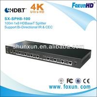 Ultra HD 4K2K 100M  1X8  HDBaseT splitter  support IR &RS 232  with 3D