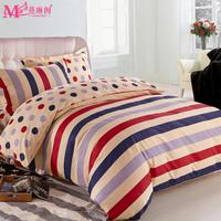Home textile bedding 100% slanting cotton stripe piece set child 100% cotton single bed kit