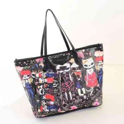 Love Nicole 2015 latest handbags fashion streets of Harajuku Style personalized printing shoulder tote bag(China (Mainland))