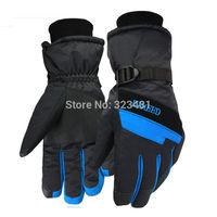 Russian Winter Warm Thick Ski Gloves windproof men women high quality Below Zero motorcycle bike cycling waterproof Gloves