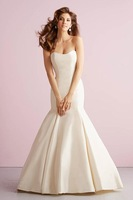 2015 New Arrival Lastest Design High Quality Sweetheart Sleeveless Sexy Mermaid Floor Length Wedding Dress Bridal Gowns