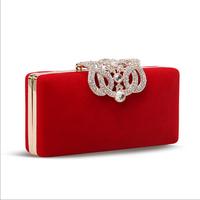 2014 Fashion Rhinestone Evening Bag Women Chain Mini Shoulder Handbag Crystal Purse Lady Evening Party Clutch Bag Free Shipping