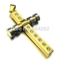 Wholesale + retail  316L Stainless Steel men's cross Pendant Necklace 10021799(074203)