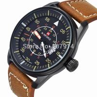 New Brand NAVIFORCE 30M Waterproof Sports Watches Men Leather Military Watch Date Quartz Watch for Men Wristwatches