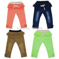 [April's]retailsale kids cotton pants,kids fluorescence colour pants spring autumn pants,child long pants ,  B13105