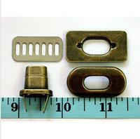 """1-3/8""""x3/4"""" ANTIQUE BRASS Metal handbag twist locks bag turn-lock"""