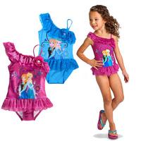New Fashion Childrens Swimwear Child Biquini Baby Girls Frozen Bathing Suits Elsa&Anna Swimming Cute Cartoon Costume