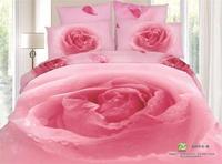 GOOD QUAILTY!quilt cover sets100%cotton wedding 3d bedding set/bedspread/floral print pink bedding/bed set/duvet cover/sheet
