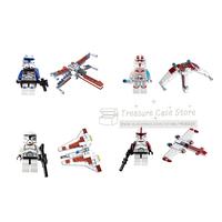 SY196  StarWars 4pcs Clone battleship  Minifigure Building Blocks Brick Toy  Compatible With Lego